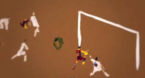 classico Real Madrid Barça FC Barcelone But Peinture