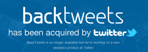 Backtweets.com is now a Twitter propriety