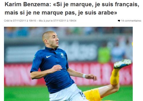 Karim Benzema Français Arabe