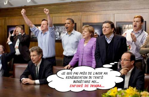 Le G8 devant la finale de Champions League