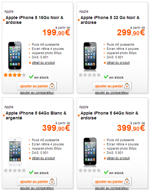 comment orange bouygues et sfr vous la mettent sur la m moire interne de l iphone 5 100 000 v. Black Bedroom Furniture Sets. Home Design Ideas