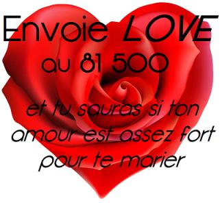 Envoie LOVE au 81500