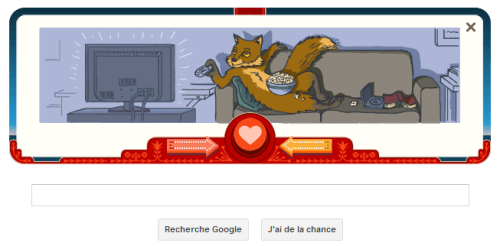 Google Doodle de St Valentin