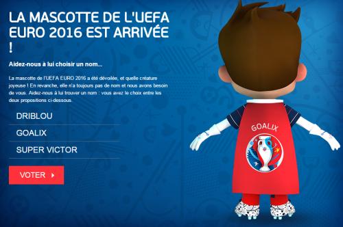 Goalix nouvelle mascotte de l'EURO 2016 ?