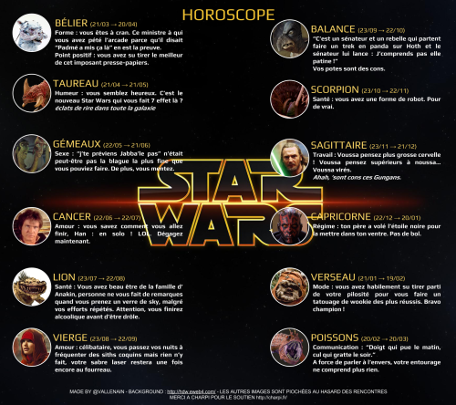 Horoscope Star Wars 7 Force Awakens