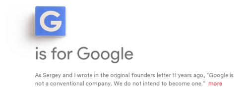 Alphabet nouvelle holding de Google