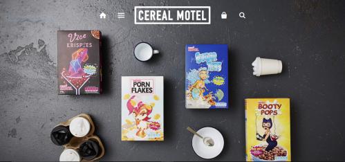 Cereal motel céréales sexy petit-déjeuner porn flakes